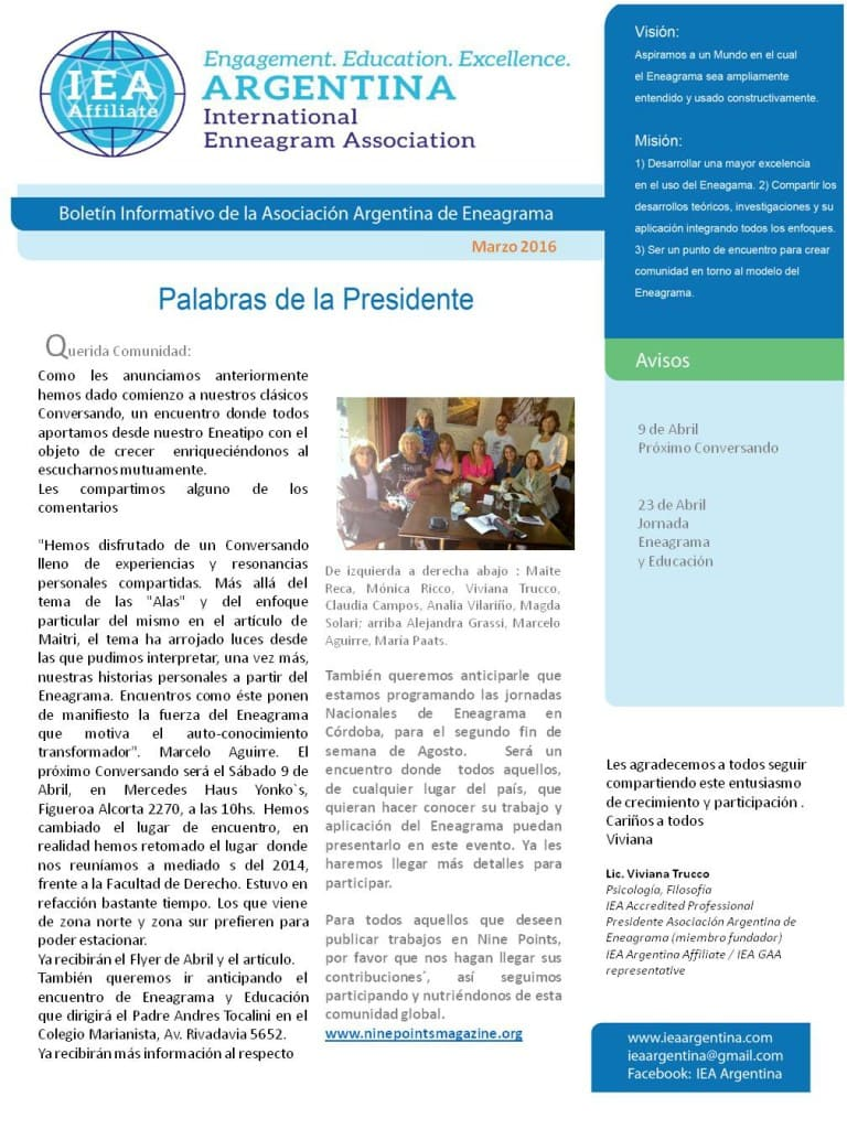 Enneanews Marzo spanish